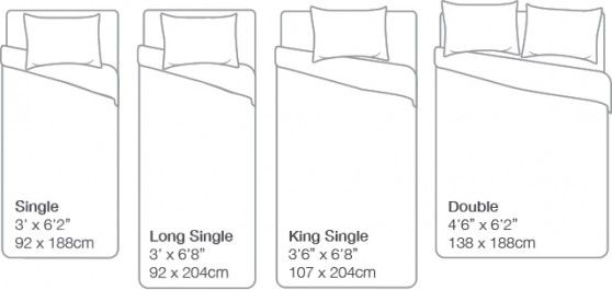 Australian Mattress Size Chart Back To Sleep Mattress